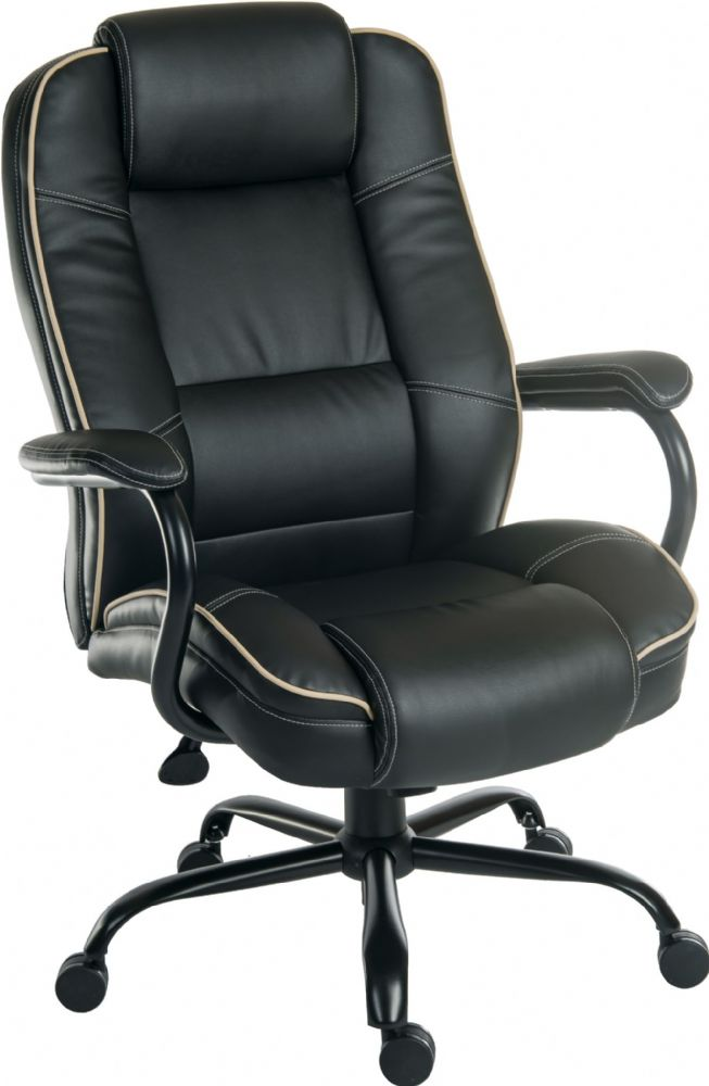 TEKNIK GOLIATH DUO Leather Faced Heavy Duty Office Chair in Black or Cream